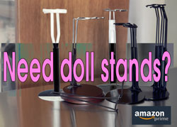 Doll stands on Amazon