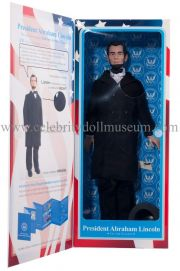 Abraham Lincoln Toy President doll box inside