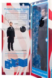 Abraham Lincoln Toy President doll box inside flap