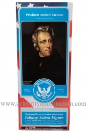 Andrew Jackson talking doll box front