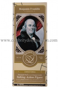 Benjamin Franklin talking doll box