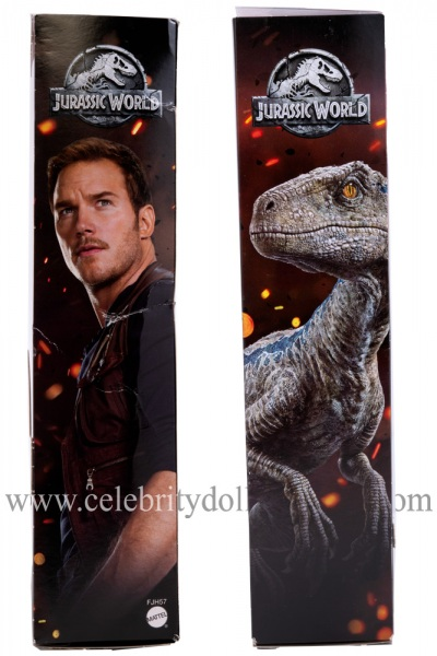 Chris Pratt (Jurassic World) action figure box sides