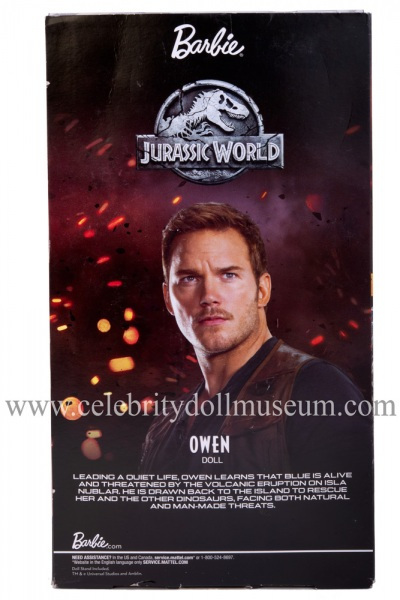 Chris Pratt (Jurassic World) action figure box back