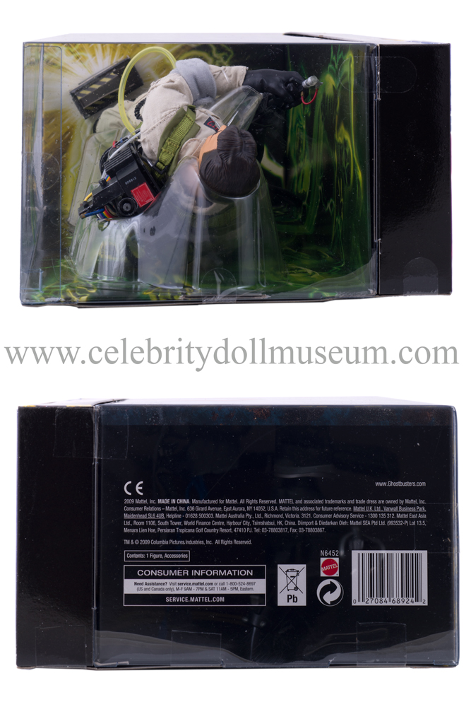 Dan Aykroyd action figure box top and bottom