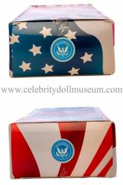 Dwight D Eisenhower Talking doll box top and bottom
