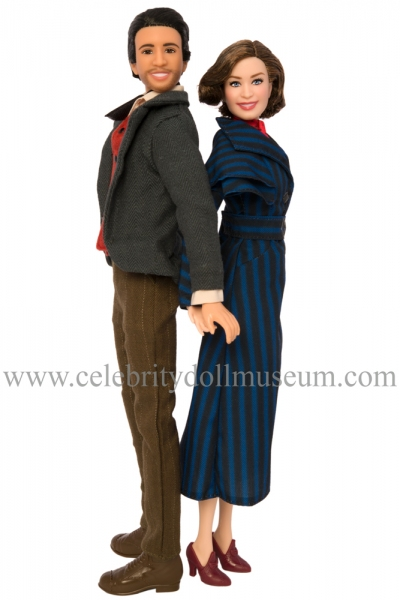 Lin-Manual Miranda and Emily Blunt dolls