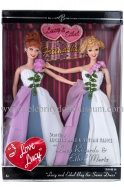 Lucille Ball and Vivian Vance doll set box