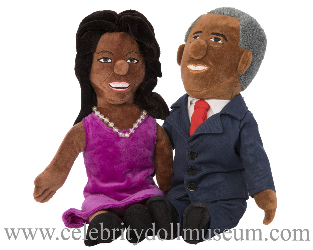 Barack and Michelle Obama plush dolls