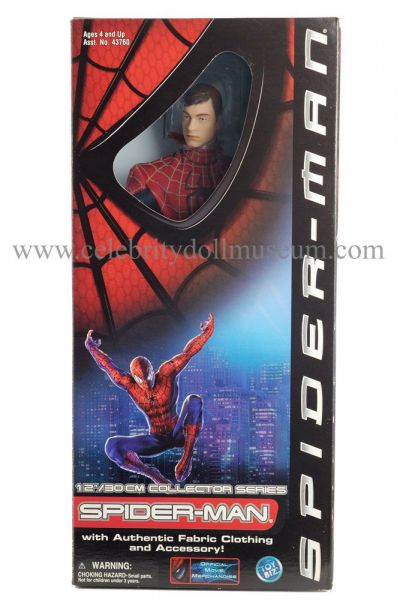 Tobey Maguire doll box front
