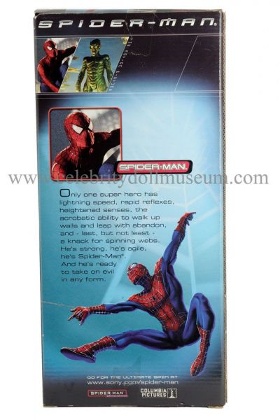 Tobey Maguire doll box back