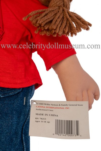 Willie Nelson doll tag