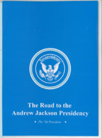 Cover shot of the Andrew Jackson biographical pamphlet that came with the Toypresident talking doll.