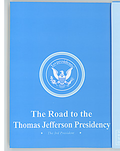 Official Toypresidents biographical pamphlet on Thomas Jefferson